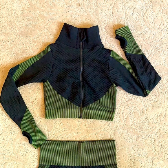 SHEIN crop athletic jacket and pants NWOT